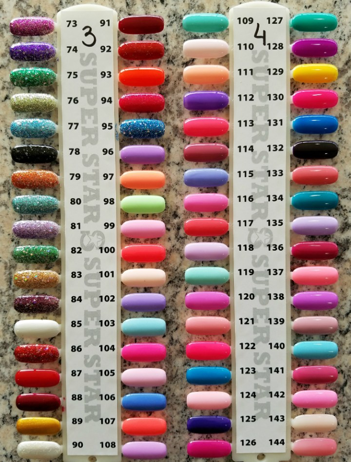 Nail Powder: Chisel Nail Powder Color Chart