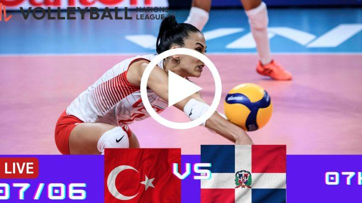 Resultado: Turquia 1 vs 3 R. Dominicana – Liga das Nações – 07/06 – 07h