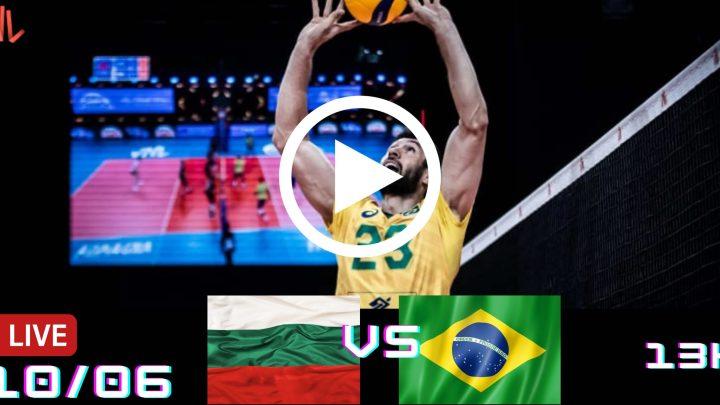 Jogo Gravado: Bulgária vs Brasil – Liga das Nações – 10/062021