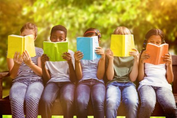 children reading books for good habits