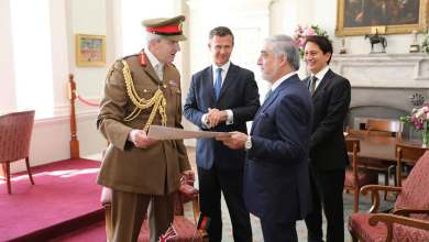 Photo of HE Dr Abdullah Chief Executive met with Mark Lancaster, Minister of State for the Armed Forces