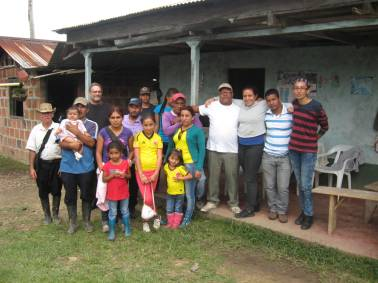 Meeting with Fensuagro affiliates in Tolima to talk about the peace accords