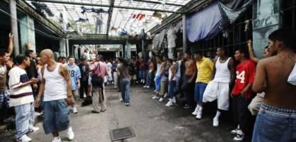 Overcrowding in a Honduran jail