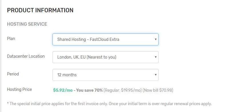 خطة FastCloud Plus