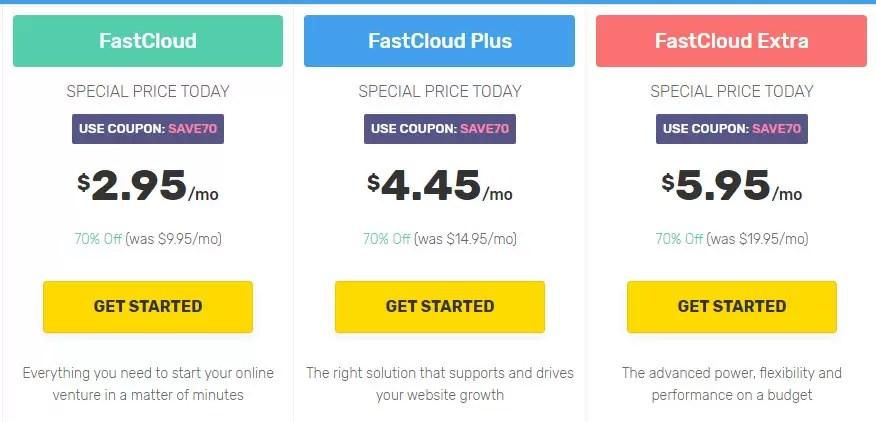خطط استضافة FastComet المشتركة
