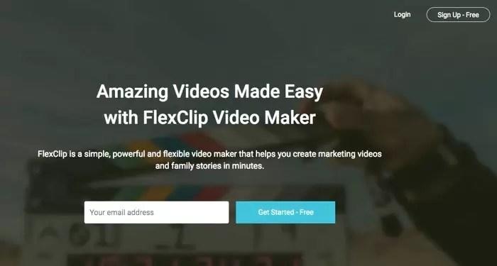صورة FlexClip Online Video موقع عمل فيديوهات احترافية اون لاين مجانية