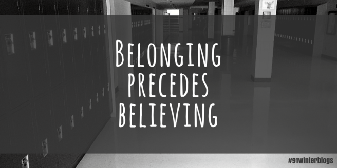 belonging precedes believing