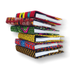 Refillable African fabric notebooks