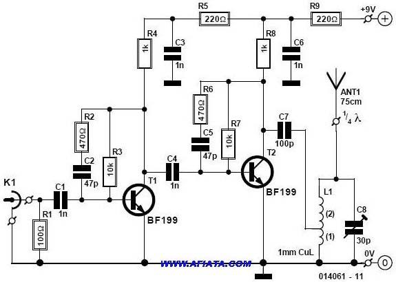 Latest Mini Fm Radio Transmitter Circuit And Description