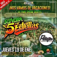 jueves 19 de enero de 2017: SONORA 5 ESTRELLAS #barlastejas