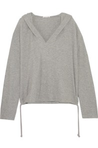 skin-waffle-knit-cotton-blend-hooded-top