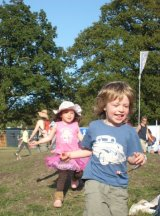 kids run free at festival #wildtime