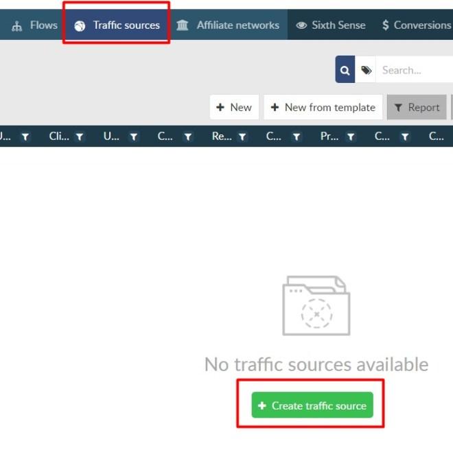 Añadir nueva fuente de tráfico en BeMob