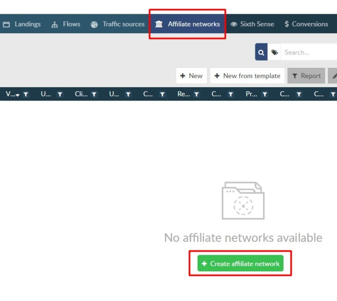 Añadir una nueva network a BeMob