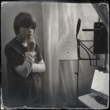 Dylan recording the voices for James