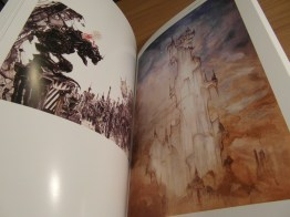 The pages are glossy like those in postcard books.