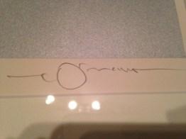Amano's signature in pencil.