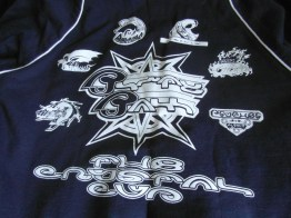Back of the jumper which shows the Spira Blitzball teams.