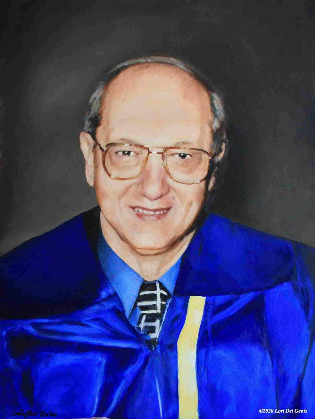 Oil portrait of Al Conti as commissioned by the Stoneham Cultural Council. (Lori Del Genis, 2020)