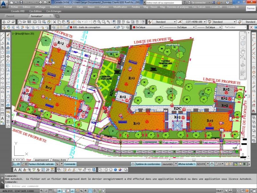 Formation Covadis - Plan d'aménagement