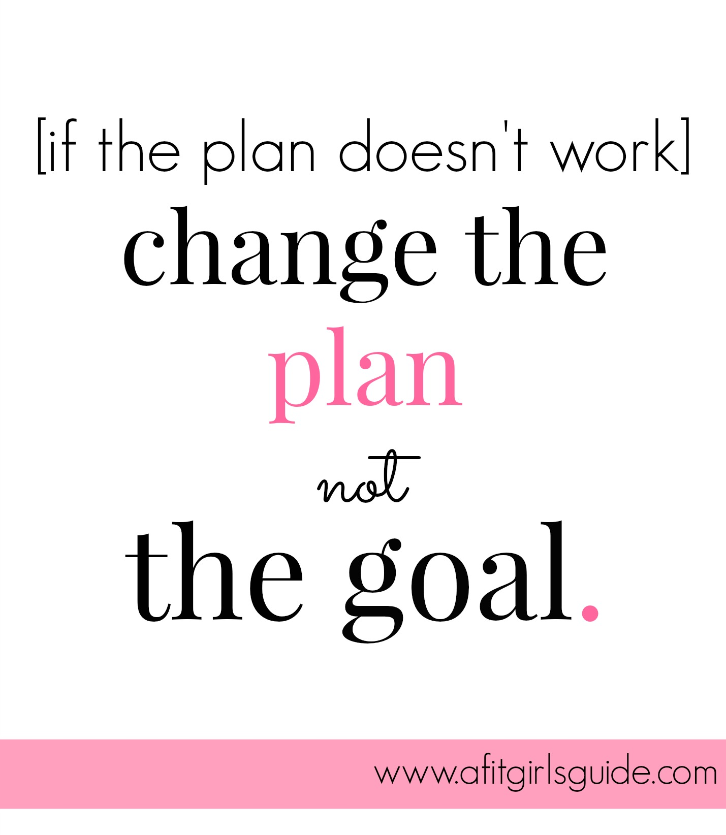 Change The Plan Not The Goal Bestself