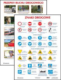 Duże plansze edukacyjne - ZNAKI DROGOWE (61x86 cm)