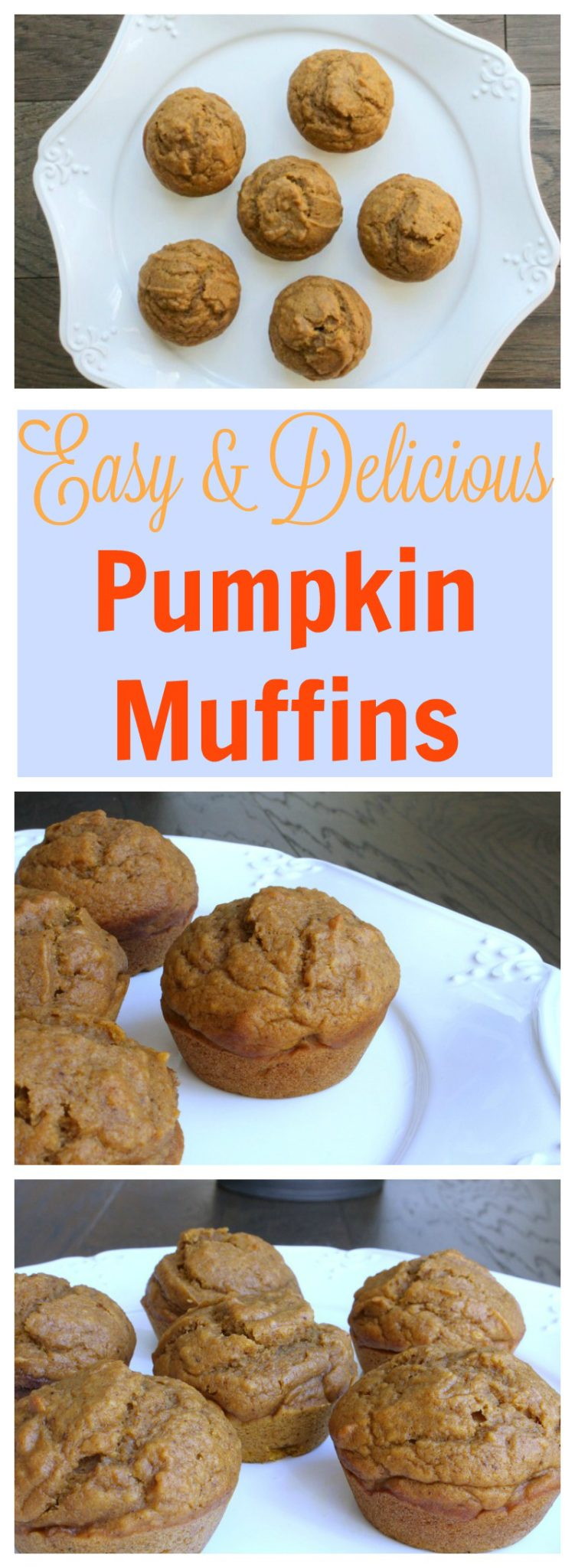 These pumpkin muffins are quick to put together, aren't overly sweet and evoke all that is fall.