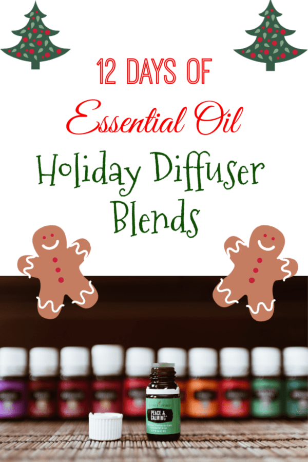 12 days of essential oil holiday diffuser blends to get you in the holiday spirit! #essentialoils #holidays #christmas