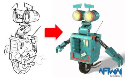 Création d'un film d'animation publicitaire en 3D