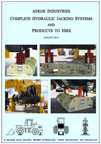 Afkos Industries Hire Equipment brichure