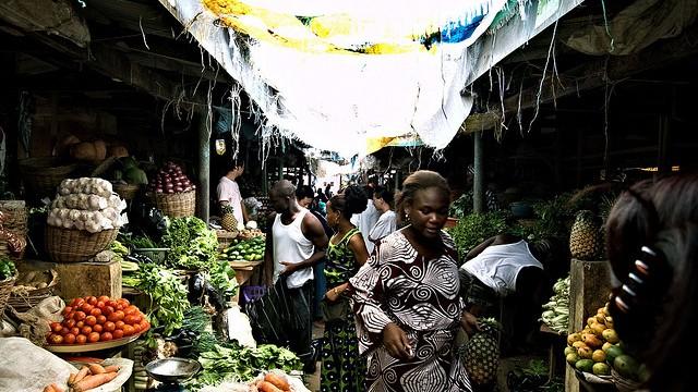 Lekki market, Lagos. Photo by Shawn Leishman (Flickr)