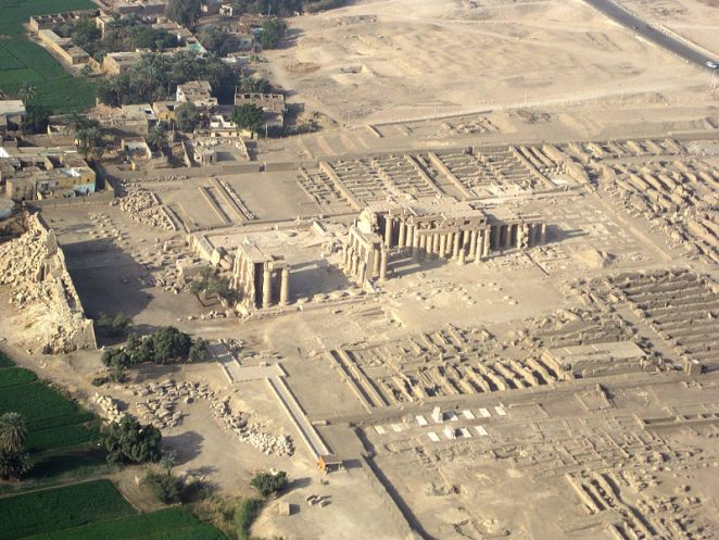Aerial view of Ramesseum
