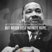 Never lose hope - Causes - 2015