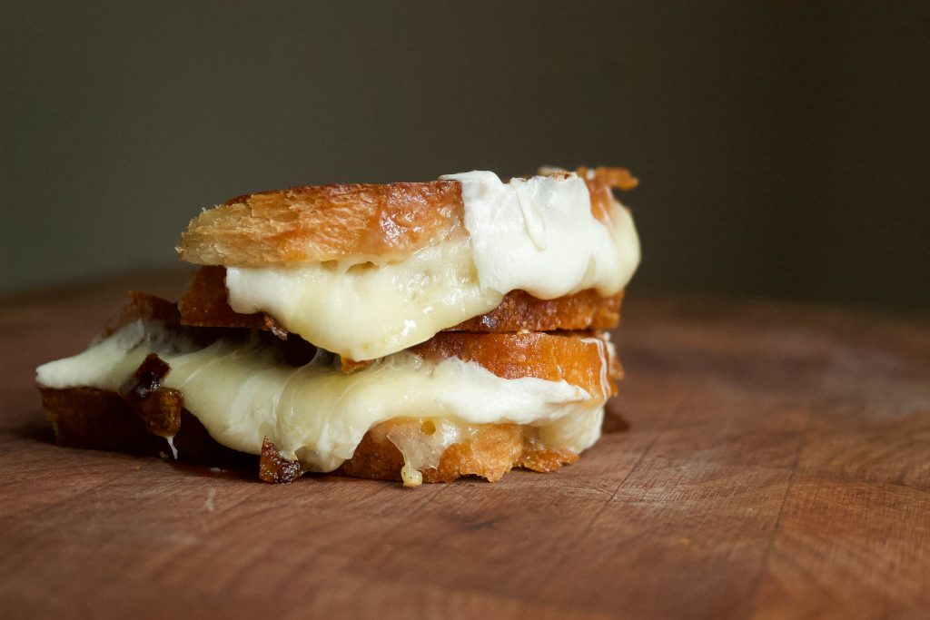 gooey cheese, crusty bread, and incredible caramelized onions make my favorite version of this classic comfort food! caramelized onion grilled cheese | a flavor journal food blog