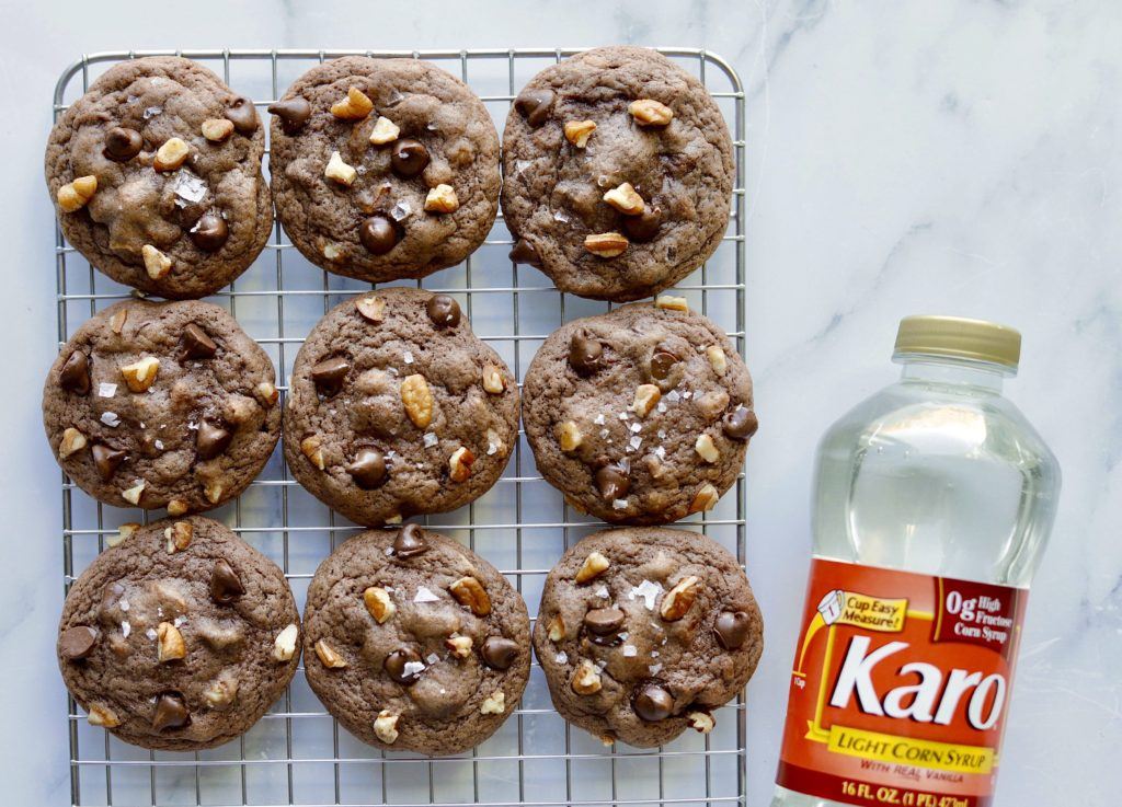 Chewy Chocolate Chip and Pecan Cookies with Karo® Corn Syrup