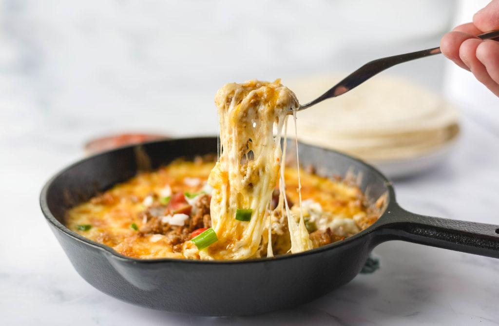 queso fundido with chorizo recipe