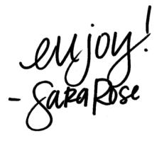 a flavor journal   sara rose