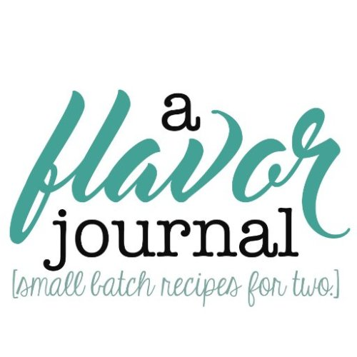 a flavor journal logo | small batch recipes for two