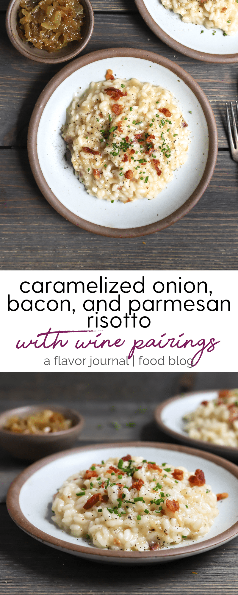 caramelized onion, bacon, and parmesan risotto