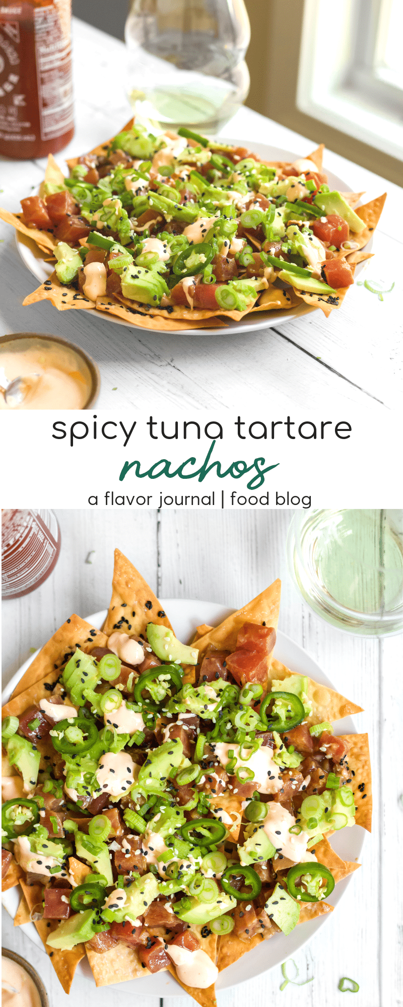 Spicy Tuna Tartare Nachos