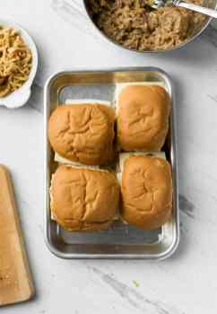 slow cooker french dip sandwich sliders