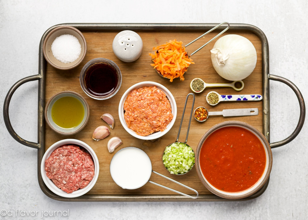 Ingredients for Easy Bolognese Pasta