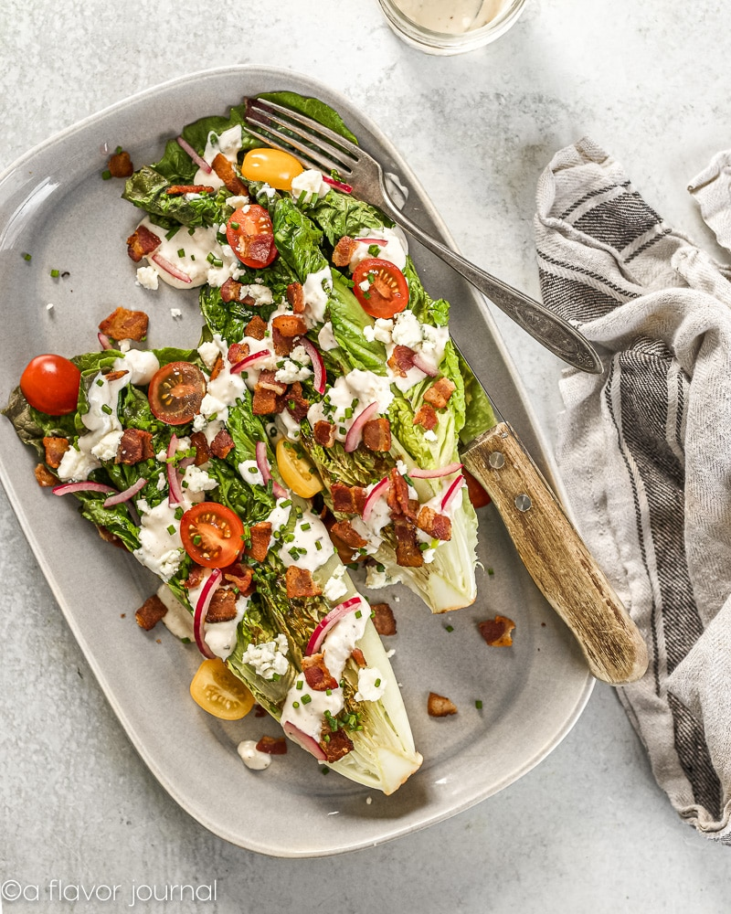 Grilled Romaine Wedge Salad for Two