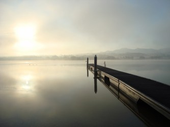Lac de Simsee au petit matin