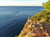 Croatie - Les falaises, à côté de notre lieu de bivouac