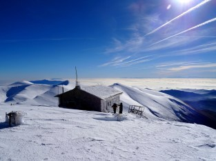 Refuge sur la voie du Mont Olympe