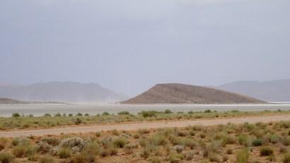 Vue sur un lac de sel