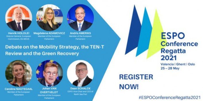 An impressive line up of high level policy makers and MEPs will be part of the ESPO Conference Regatta 2021 when on 26 May, they are to discuss mobility & strategy, ports, TEN-T review and the Green recovery.