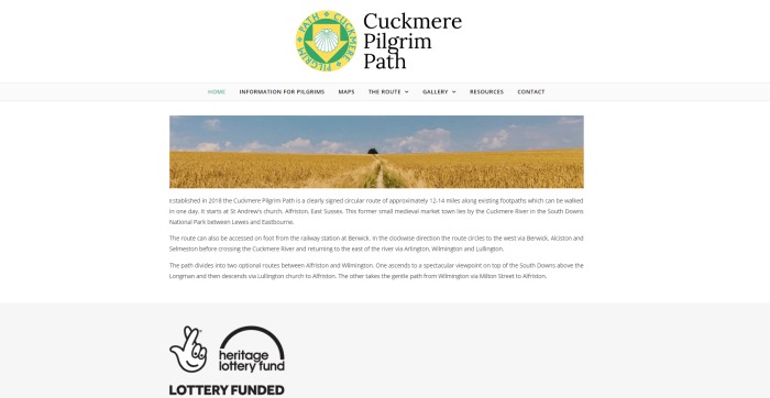 Cuckmere Pilgrim Path Homepage