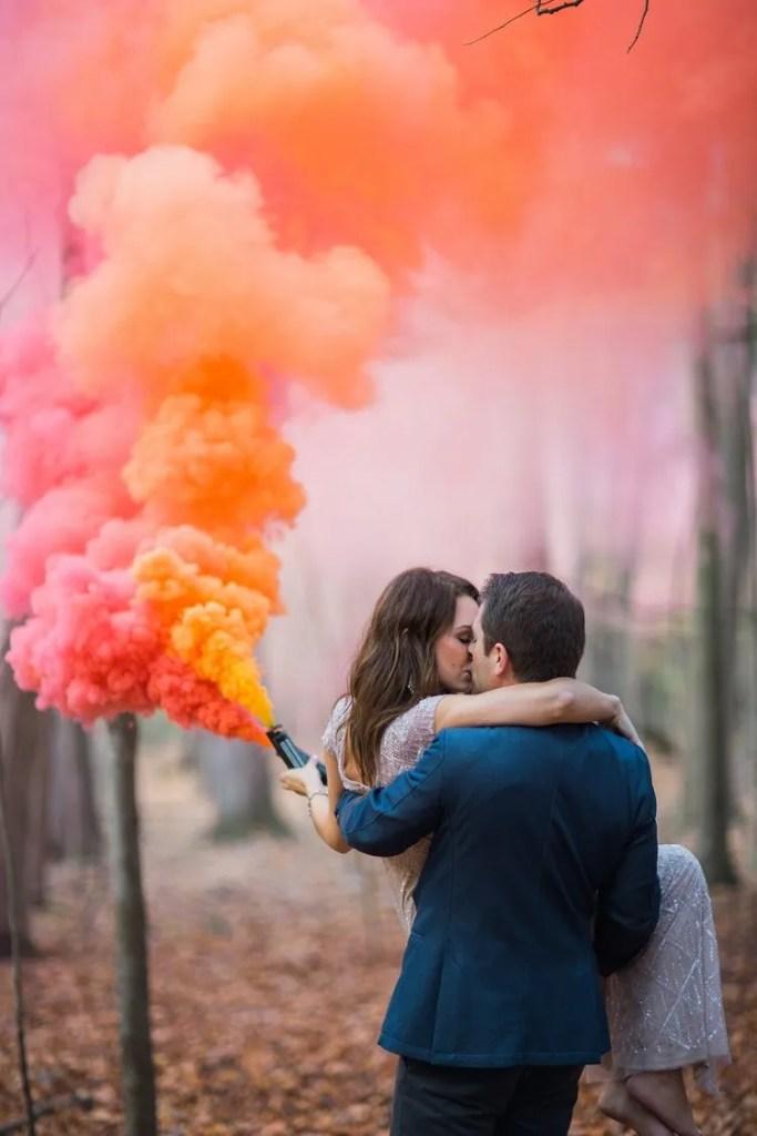 Effetti speciali con le Bombe di Colore per matrimonio